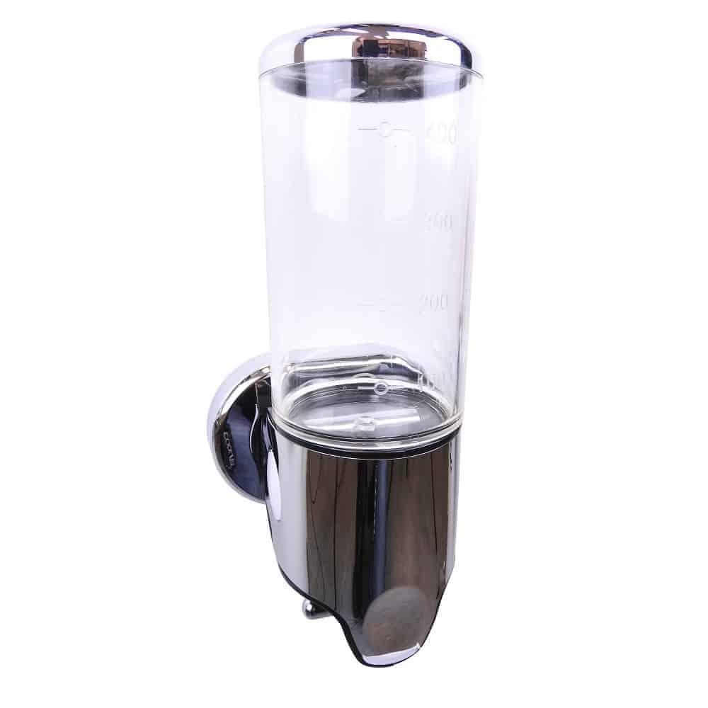 Zeep dispenser transparant met chroom 400 ml