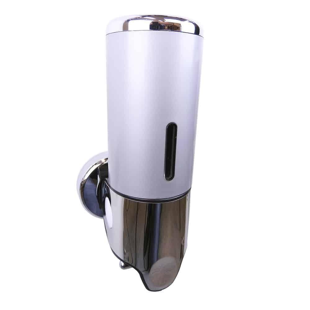 Zeep dispenser grijs met chroom 400 ml
