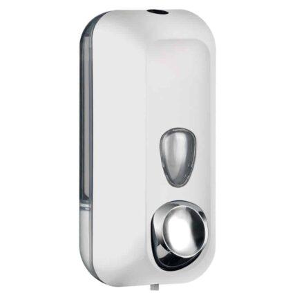 Marplast zeepdispenser A71401BL - Professionele kwaliteit - Wit met Transparant - 550 ml - Geschikt voor openbare ruimten