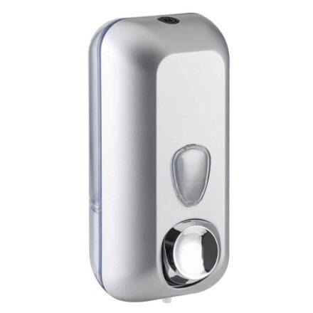 Marplast zeepdispenser 714s - Professionele Kwaliteit - Grijs, Zilver - 550 ml - Losse navulzeep - Geschikt voor openbare ruimten