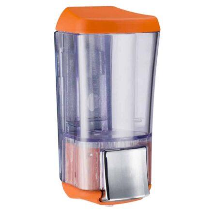 Marplast zeepdispenser A76424AR - Professionele kwaliteit - Oranje met Transparant - 170 ml - Geschikt voor openbare ruimten