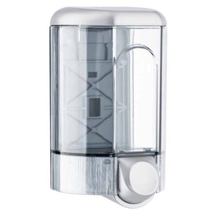 Marplast zeepdispenser 563 - Professionele Kwaliteit - Grijs met Transparant - 1100 ml - Losse navulzeep - Geschikt voor openbare ruimten