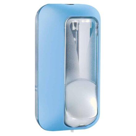 Marplast zeepdispenser A89101AZ - Professionele kwaliteit - Blauw met Transparant - 550 ml - Geschikt voor openbare ruimten