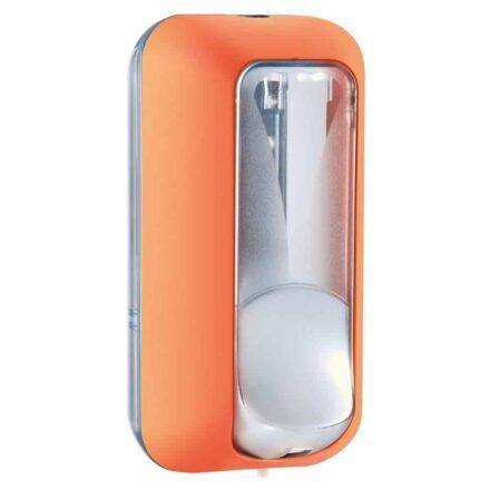Marplast zeepdispenser A89101AR - Professionele kwaliteit - Oranje met Transparant - 550 ml - Geschikt voor openbare ruimten