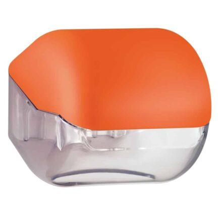 Marplast toiletpapier houder A61900AR - Oranje met transparant - geschikt voor traditionele Rollen toiletpapier