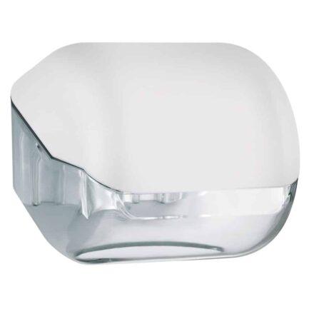 Marplast toiletpapier houder A61900BL - wit met transparant - geschikt voor traditionele Rollen toiletpapier