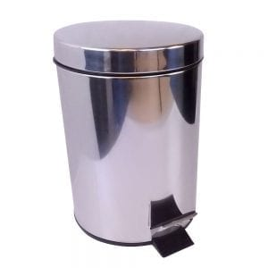 WillieJan Pedaalemmertje 2720 - Afvalbak - RVS - Verchroomd - 5 Liter - Mooi en Compact
