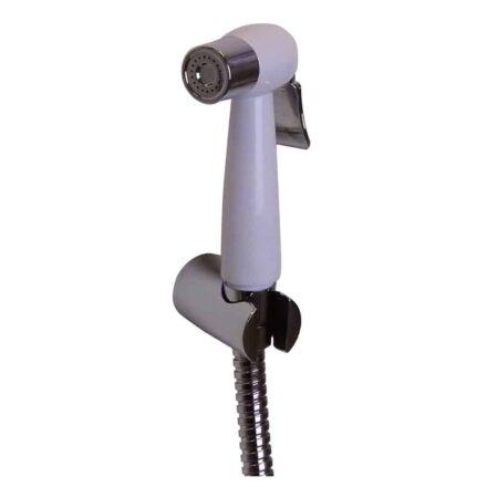 WillieJan Knijp handdouche Set HD036 - ABS - Wit met Chroom - Sprayer, Slang en Ophangbeugeltje