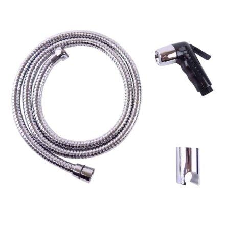 WillieJan Knijp handdouche Set HD037 - ABS - Zwart met Chroom - Sprayer, Slang en Ophangbeugeltje