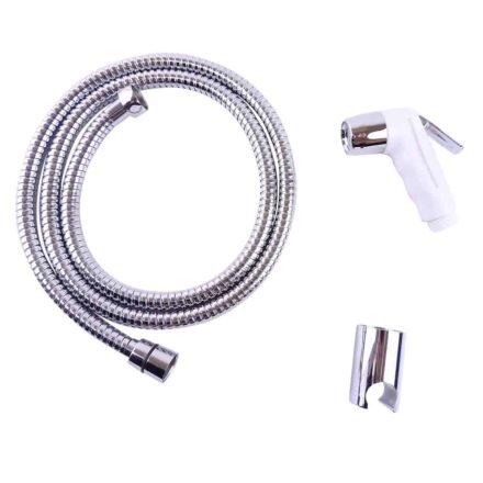 WillieJan Knijp handdouche Set HD044 - ABS - Wit met Chroom - Sprayer, Slang en Ophangbeugeltje